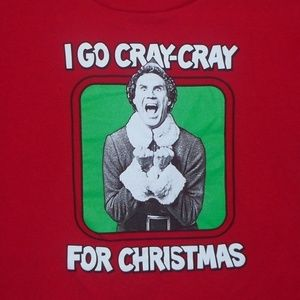 elf I Go Cray-Cray for Christmas novelty t-shirt